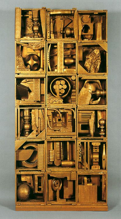 Louise Nevelson (American, 1899-1988), Royal Tide I, 1960, assemblage