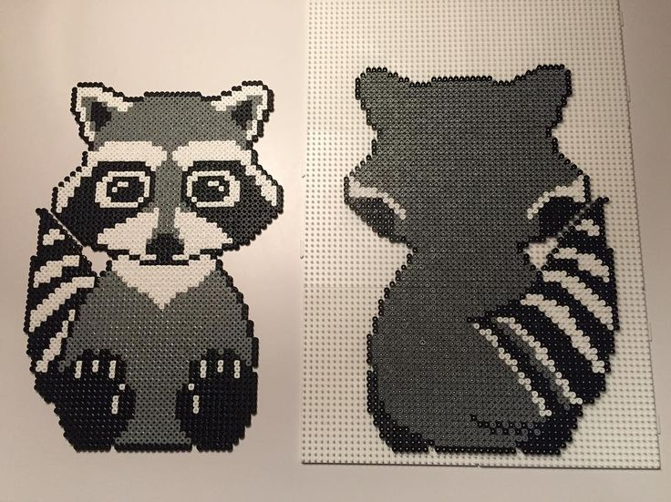 Raccoon hama beads by twinsies_mommy