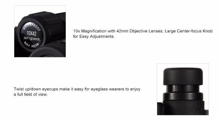 10X42  Waterproof  Binoculars Bak4 Prism Optics Technology Specification by podoqo