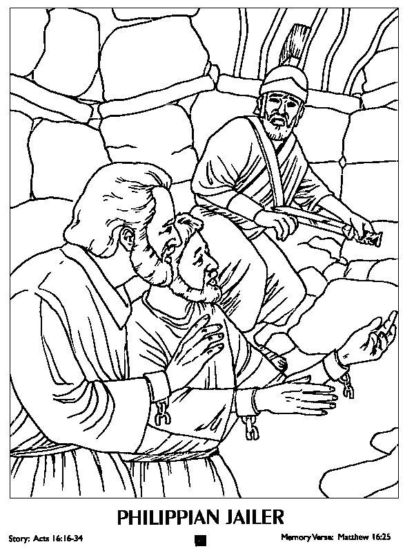 Paul And Silas Coloring Page 17 Best Images About New Testament Worksheets Color Pages