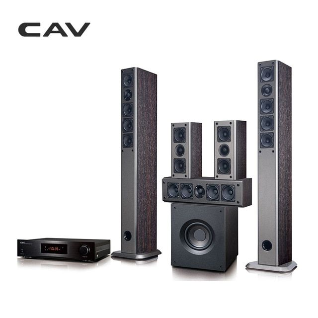 dd938ad3b8a CAV AV930 Home Theater 5.1 System Bluetooth EDR IMAX Music Center Optical  Coaxial RCA Wooden Home