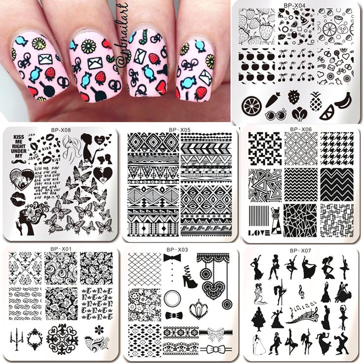 1PC New Born Pretty Nail Stamping Plates Flower Butterfly Fruit Pattern Nail Art Stamp Plate Image Template Decorations BPX01-08 #>=#>=#>=#>=#> Click on the pin to check out discount price, color, size, shipping, etc. Save and like it!
