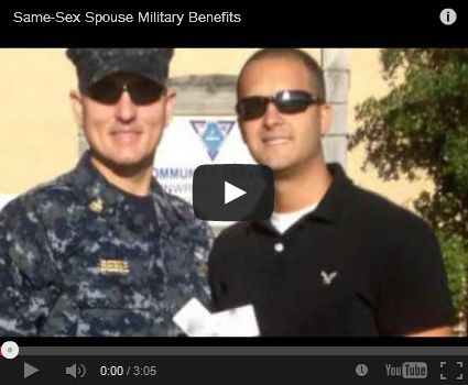 Defense Department posts video about husbands utilizing same-sex spouse military benefits