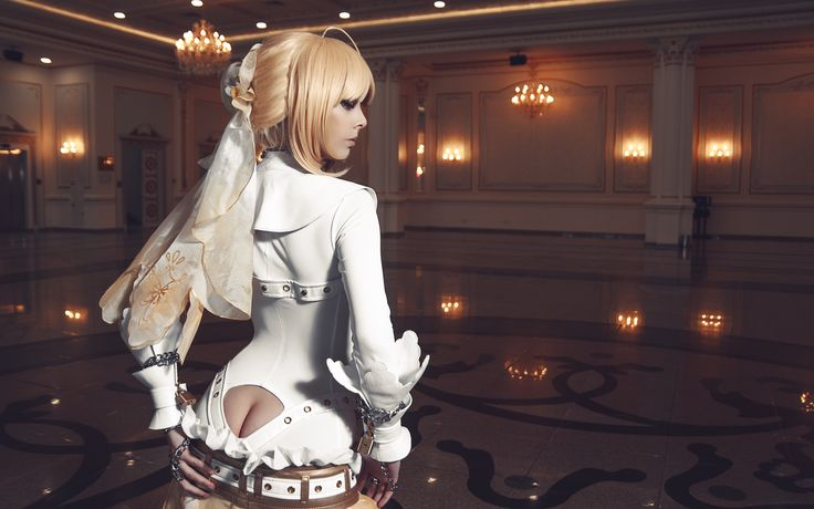 Coser/Model: Disharmonica (Helly von Valentine) |  Gallery: Cosplay Saber Bride |  Photographer: eZhika (Kak-Tam-Ee) |  Cosplay: Fate/Extra CCC |  Original: Fate/Stay Night |  Class: Saber Bride aka Nero Claudius Caesar Augustus Germanicus |  FateStayNight FateExtraCCC Fantasy Costume Sexy Booty Photography |  #Disharmonica #Cosplay #Saber #FateStayNight #FateExtra #FateExtraCCC #Fantasy #Costume #Sexy #Booty #Photography |  Pin by @settimamas