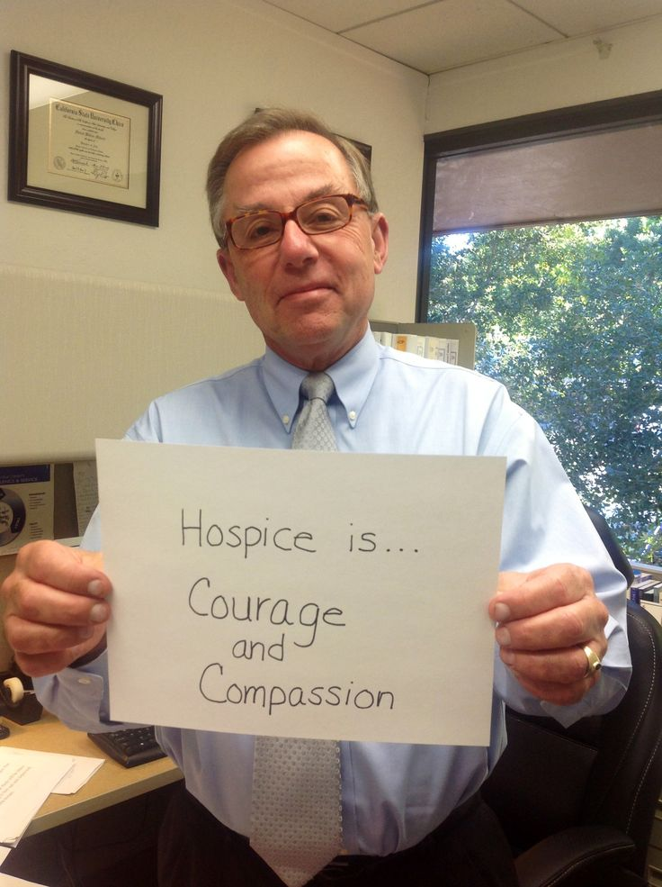 #Hospice care is ....