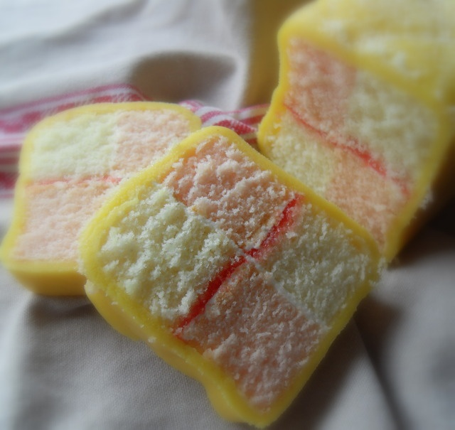 Traditional Battenberg Cake {aka Church Window Cake}