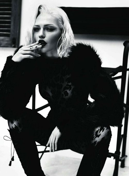 Sasha Pivovarova by Mert & Marcus for Vogue Paris