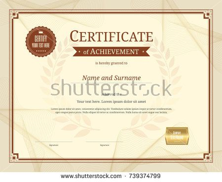 131 best certificate template images on pinterest certificate luxury certificate template with elegant border frame diploma design for graduation or completion yadclub Images