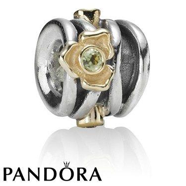 Pandora Peridot Rose Charm 80135