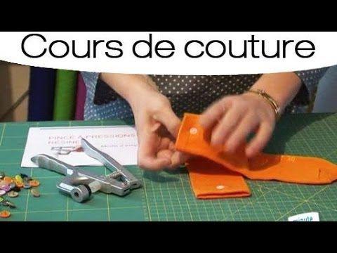 Cours de couture : Poser un bouton à pression en résine