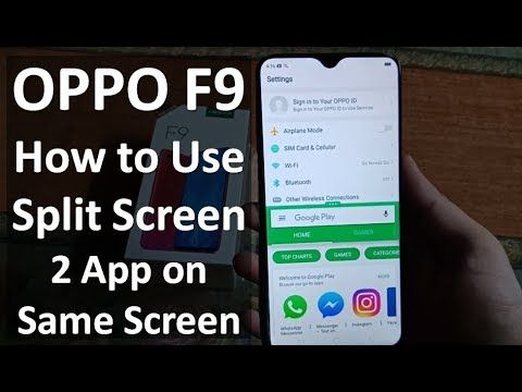 How To Use Split Screen (Multi Window) Feature on OPPO F9 | Mobile