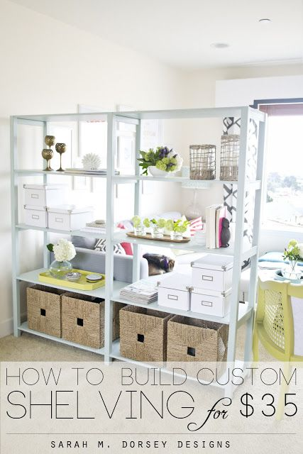 How to Build Custom Shelving for Only $35!