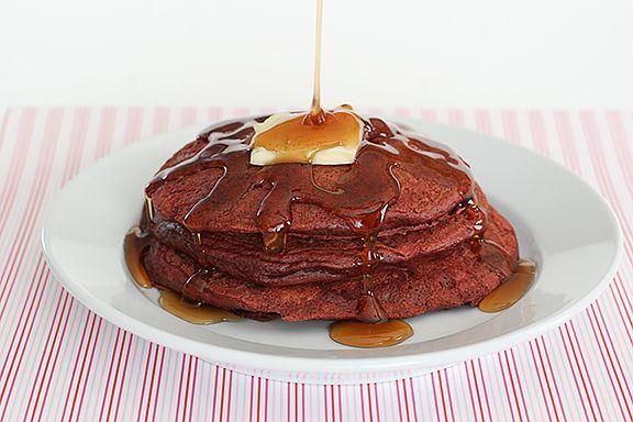 Red Velvet Pancakes http://www.tasteandtellblog.com/red-velvet-week-red-velvet-pancakes/