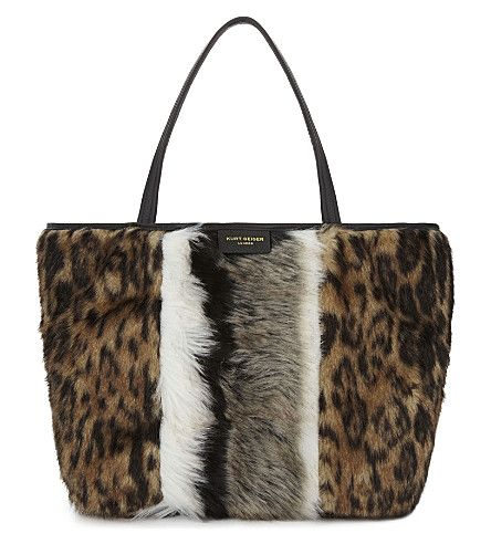 KURT GEIGER LONDON . #kurtgeigerlondon #bags #hand bags #polyester #fur #tote #