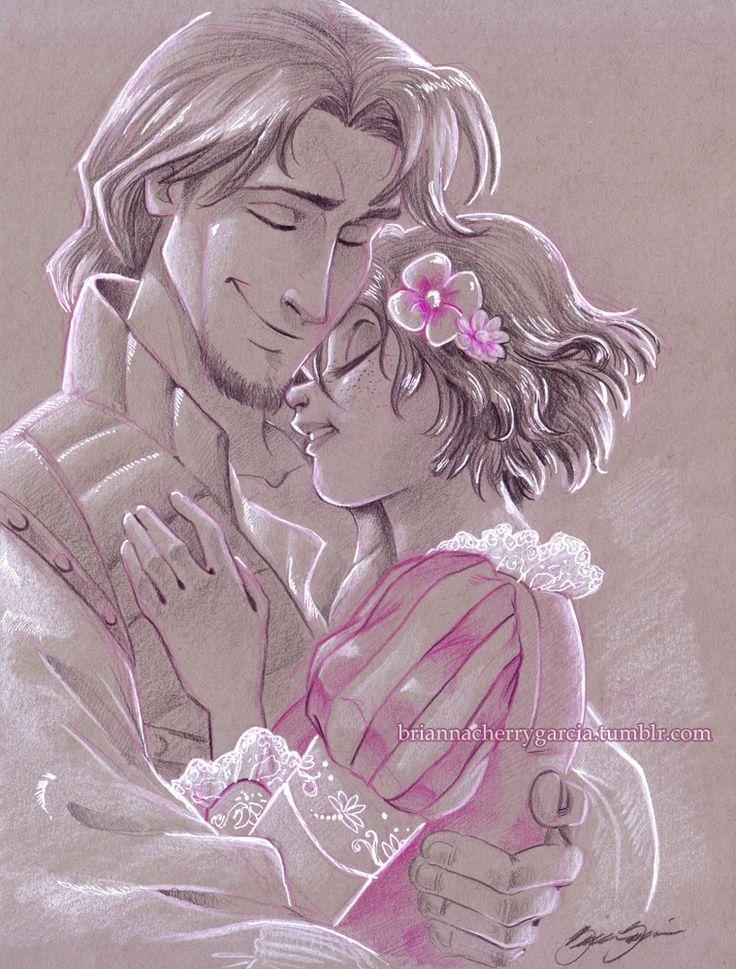 Rapunzel and Eugene.