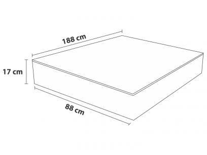 Colchão Solteiro Probel Espuma D-40 - 17cm de Altura com as melhores condições você encontra no Magazine Edisonmaciel. Confira!