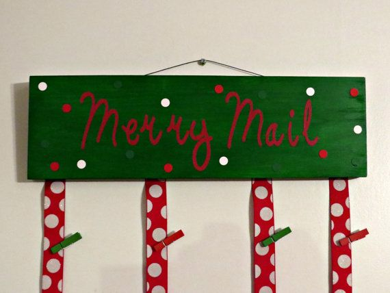 Are you looking for a great way to display all of those Christmas cards? Well this Merry Mail Sign is a great for you! The sign measures 15