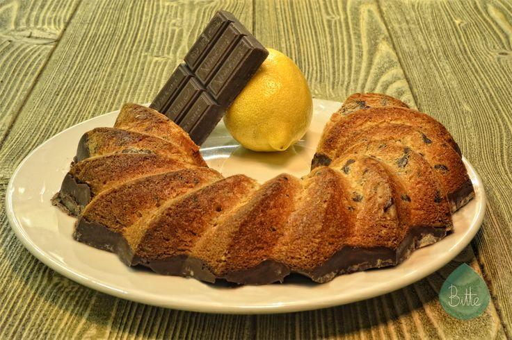 ¡Bizcocho de limón y chocolate!