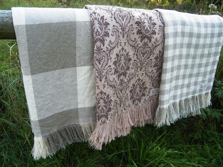 Pure linen blankets on framestr.com