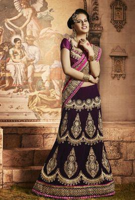Bridal wear heavy amazing lehenga saree - Rs 11590