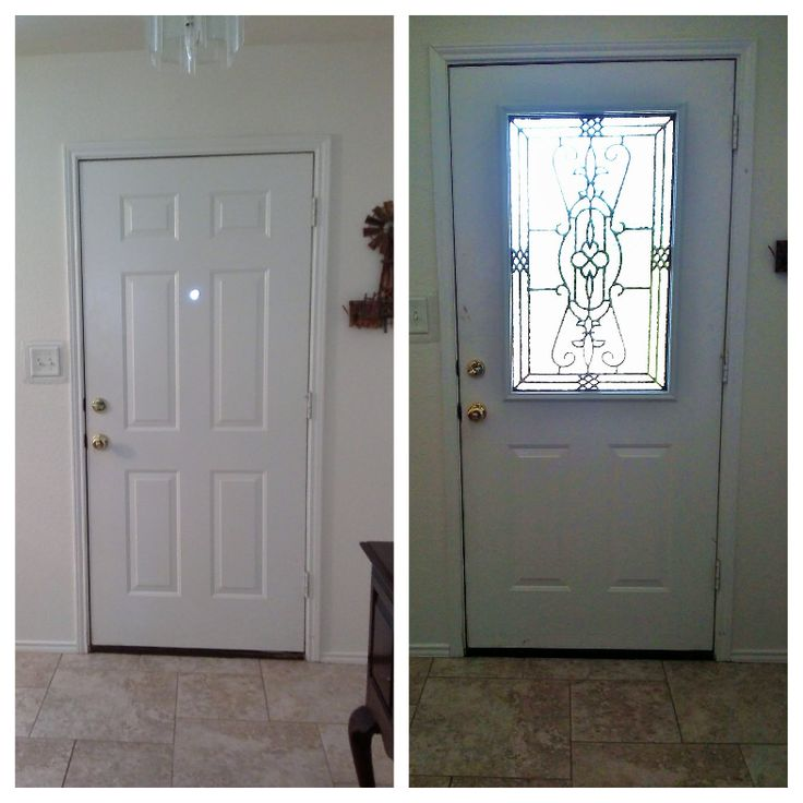 Front door makeover zabitat installed a half light jacinto for Half glass exterior door