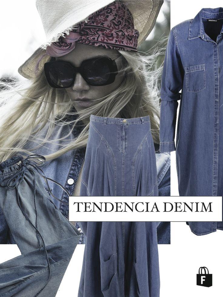 La tendencia del verano fue el DENIM, todas las prendas en wwww.tiendafucsia.co