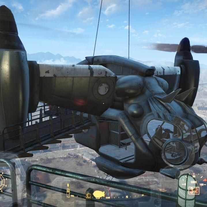 When the Vertibird gets the docking on Prydwen wrong