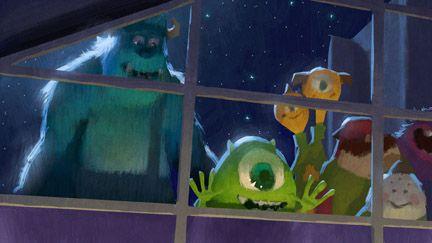 "Color Script   Peek at Monsters Inc. - Monsters University (2013) // Daisuke ""Dice"" Tsutsumi"