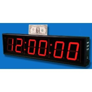large 6digit led wall clock with count updown timer