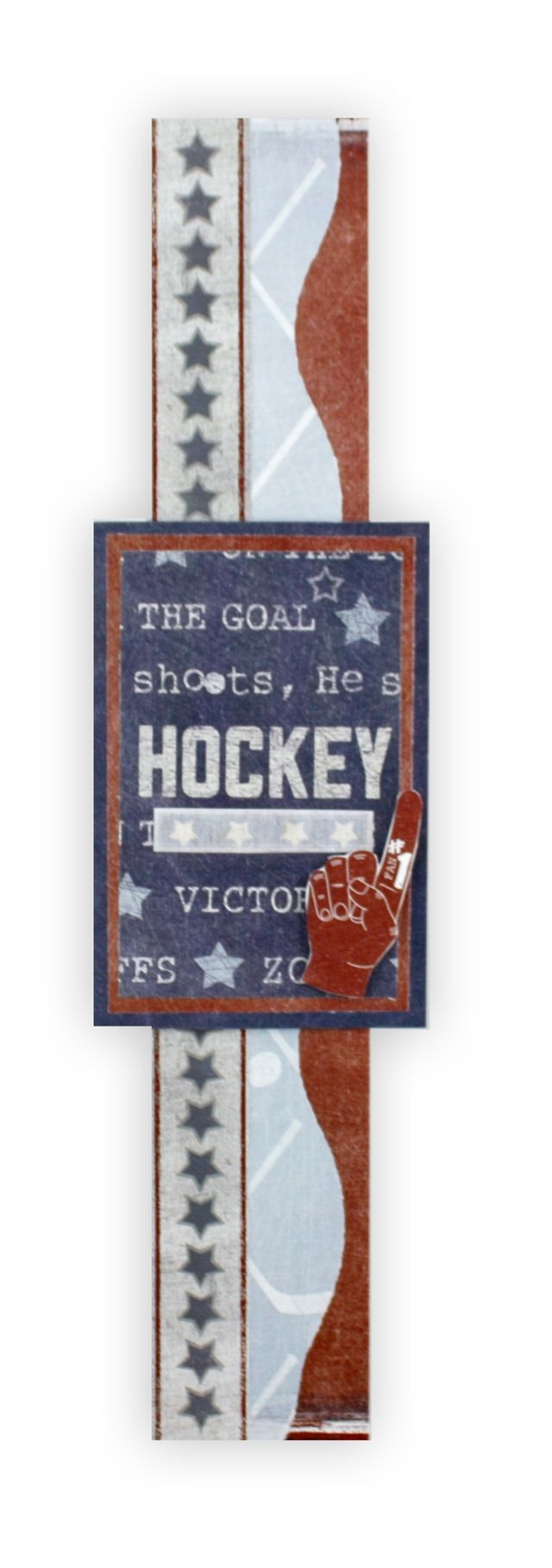How to scrapbook memories - Hockey Additions Scrapbooking Border Idea From Creative Memories