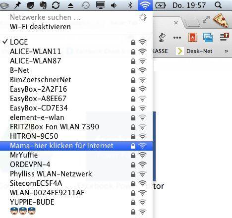 Bester WLAN Access Point Name ever …  Gefunden über G+