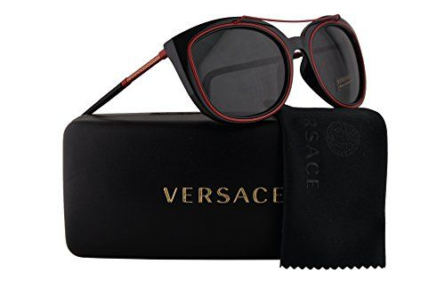 db93f9232dac3 Versace VE4336 Sunglasses Black w Gray Lens 525587 VE 4336