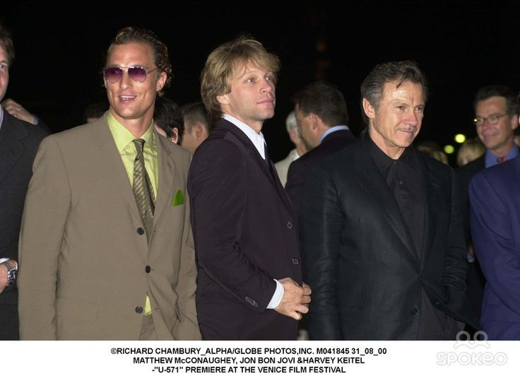 31_08_00 Matthew Mcconaughey, Jon Bon Jovi  Keitel -u-571 Premiere at the Venice Film Festival