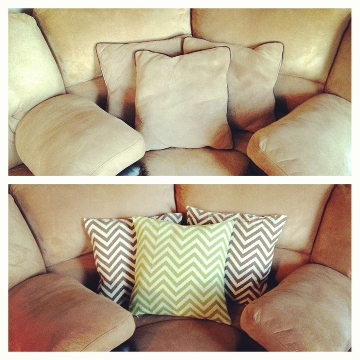 much cheaper than buying new throw pillows - Hobby Lobby pillow covers $6.99 each Rooms ...
