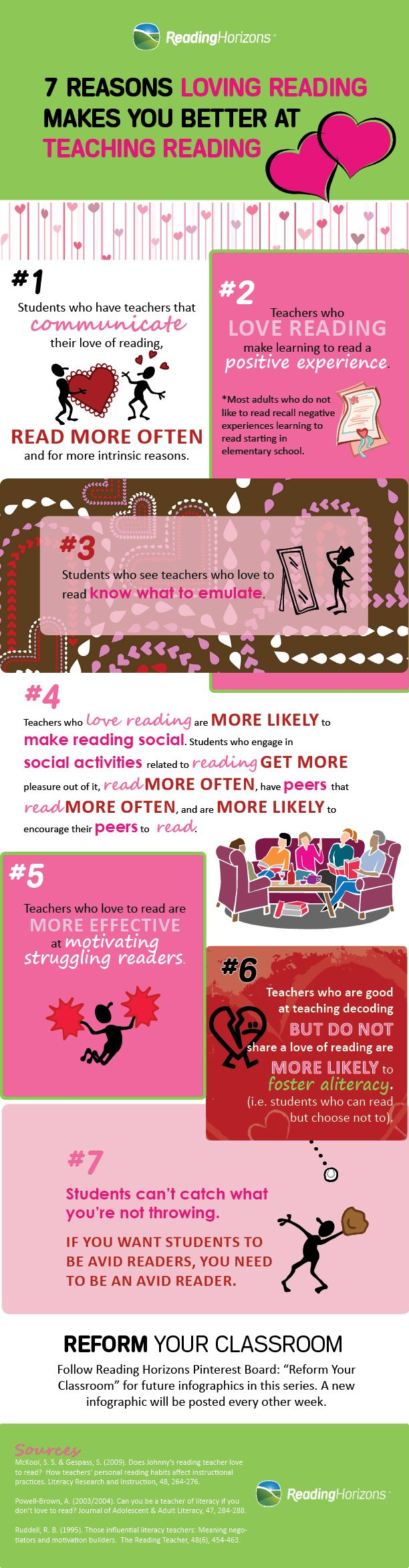 7 Reasons Loving Reading Makes You Better at Teaching Reading #infographic