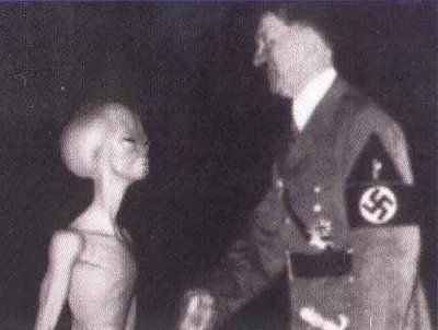 Hitler and an alien. Don't know why this makes me laugh so much.: