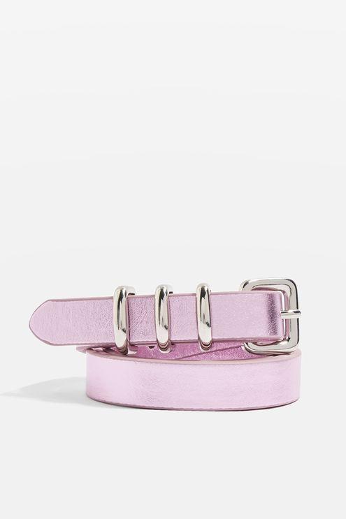 PU Pink Triple Keeper Belt
