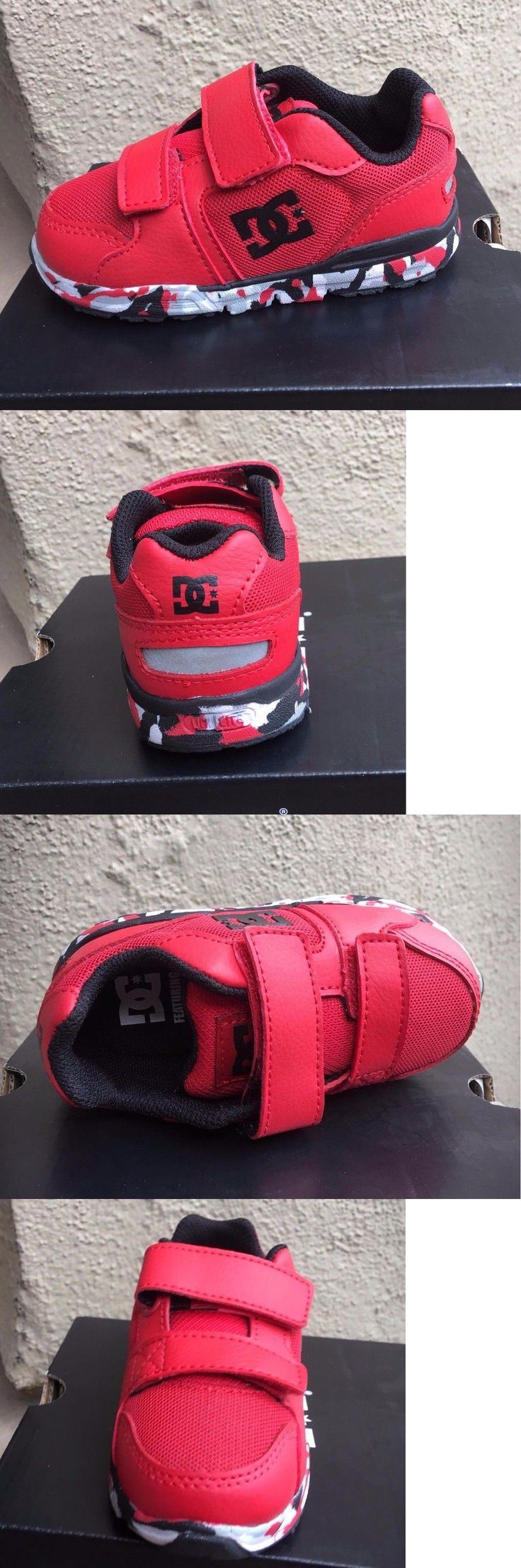 Baby Shoes 147285: Dc Forter V Black Red White Infant Toddler Baby Boy Shoes Sneakers Size 6-9 -> BUY IT NOW ONLY: $33.95 on eBay!