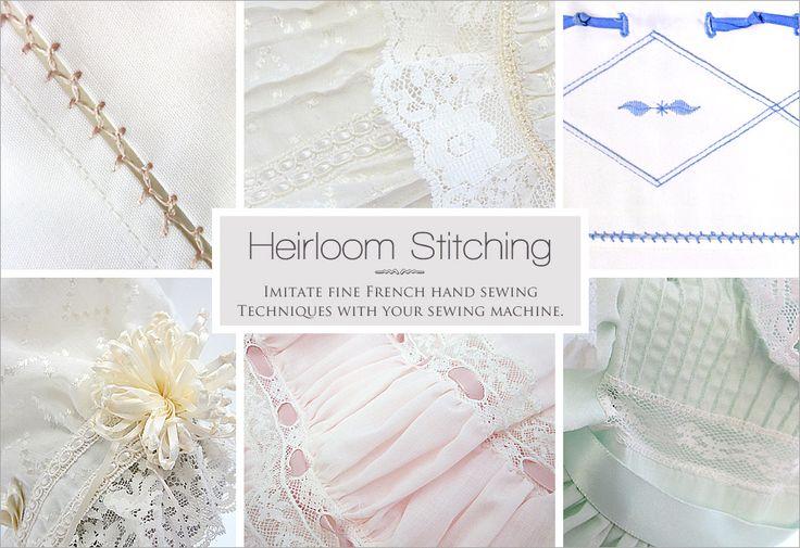 Basic Heirloom Stitching by Machine | Sew4Home