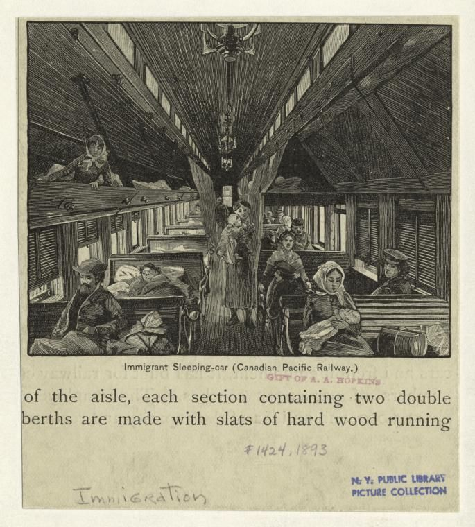 Immigrant Sleeping Car, Canadian Pacific Railway, 1893