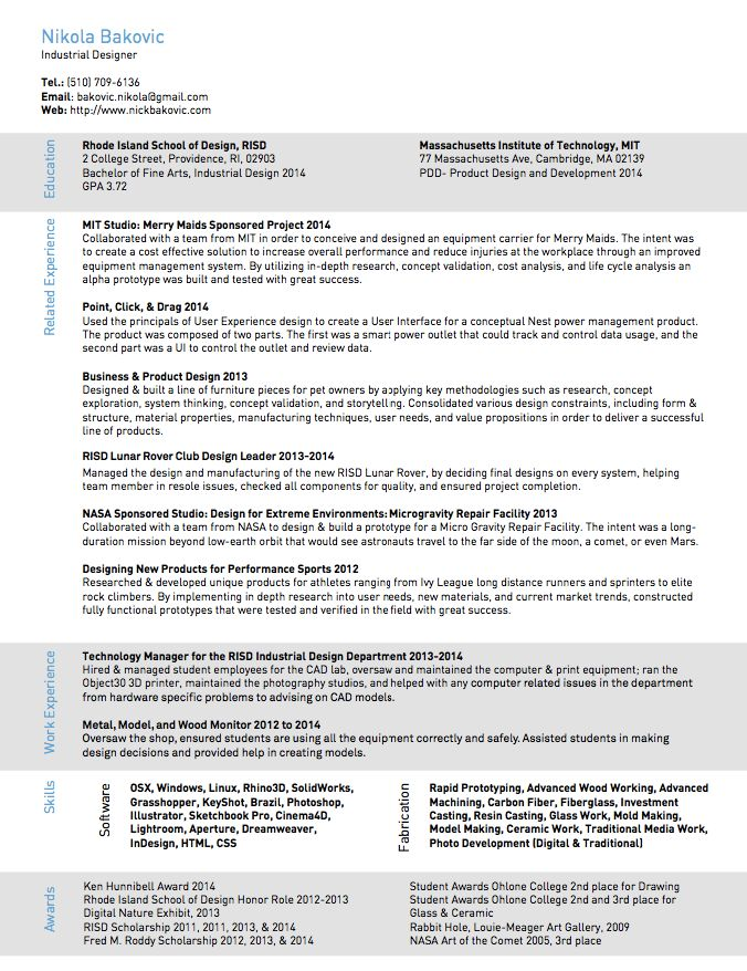 Industrial Designer Resume Sample - http\/\/resumesdesign - fiberglass repair sample resume