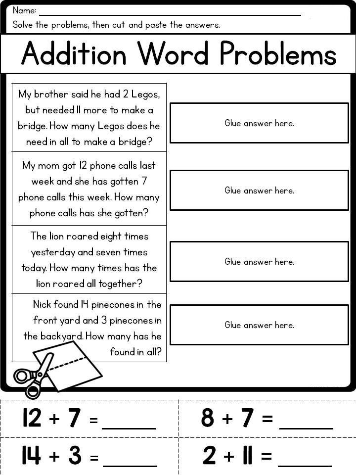 2nd Grade Math Word Problems With Images Math Word Problems