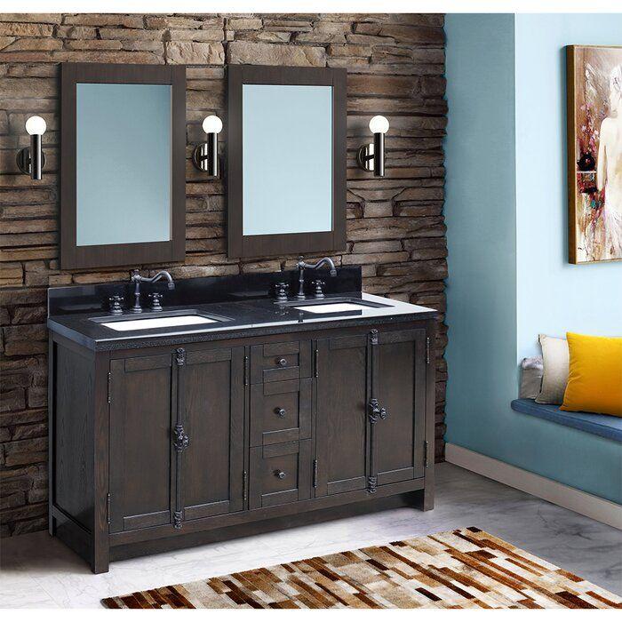 Laurel Foundry Modern Farmhouse Coby 55 Double Bathroom Vanity Set Mission Style Bathroom Bathroom Vanity Bathroom Styling 55 inch double sink bathroom vanity