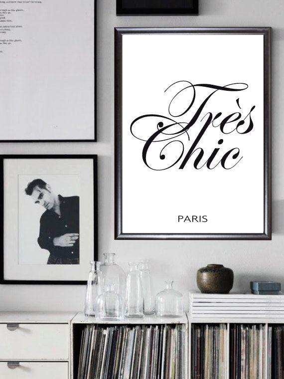 Paris Très Chic decor digital print Scandinavian di Printmyidea