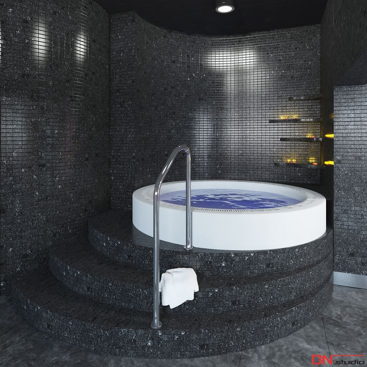 BRISTOL ART & SPA Sanatorium in Busko zdroj, Poland. Design and Rendering of a whirlpool.