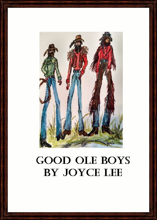 Southwestern Fine Art Print The Good Ole Boys 9 x 12 by Yesteryeargal on Etsy