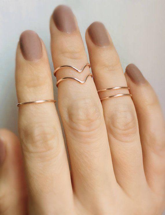 Knuckle Ring Dainty Ring Stacking Ring White Midi Ring Custom Midi Ring Unique Ring Minimal Ring Dainty Midi Ring Midi Ring