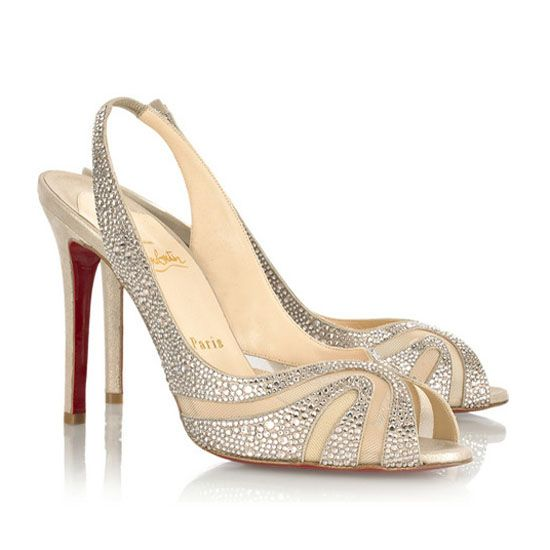 Christian Louboutin Alta Rita 100 Silver Slingback (too salty for ...