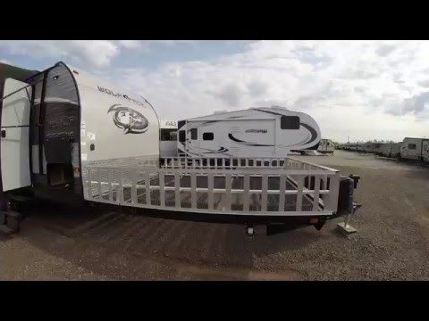 (65) 2017 Wolf Pack 20 Pack 10 Toy Hauler Travel Trailer only 5,985 Pounds! - YouTube