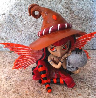 Witch Fairy - Make a Little Magic - Witch Fairy figurine collection by Jasmine Becket-Griffith - Hamilton Collection